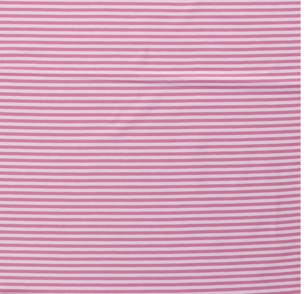 Tricot fabric Stripes Old Pink