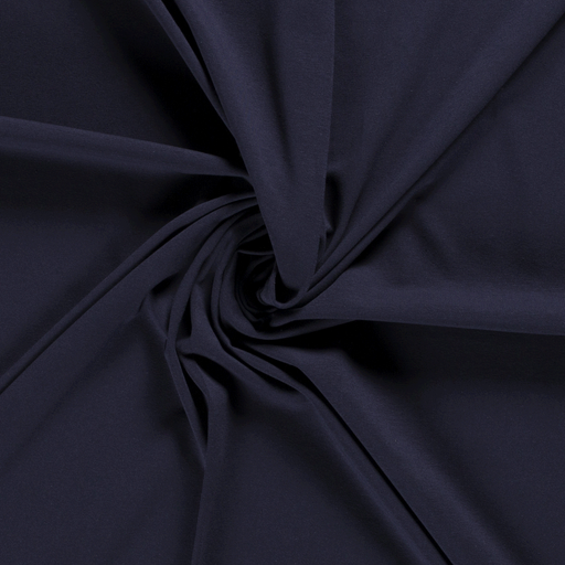 Tricot fabric Unicolour Navy