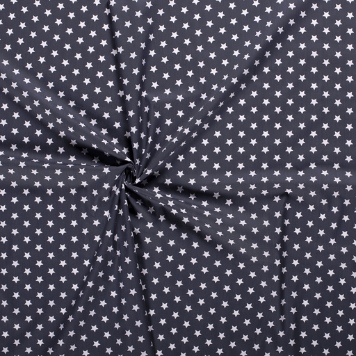 Poplin fabric Dark Grey printed