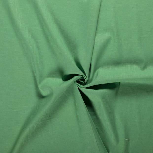 Pure linen fabric Green