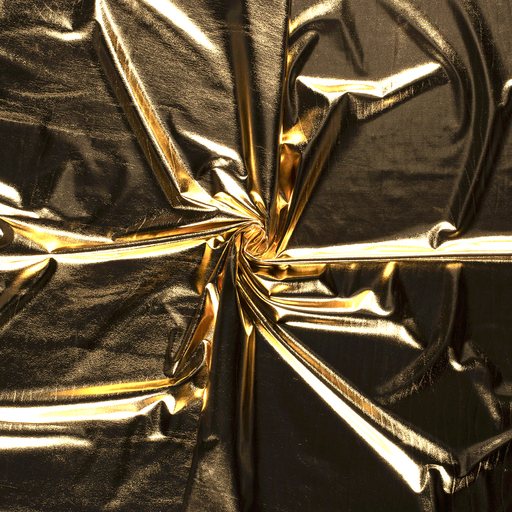Foil jersey fabric Gold