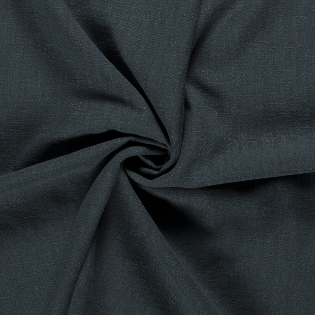 Ramie Linen fabric Unicolour Dark Green