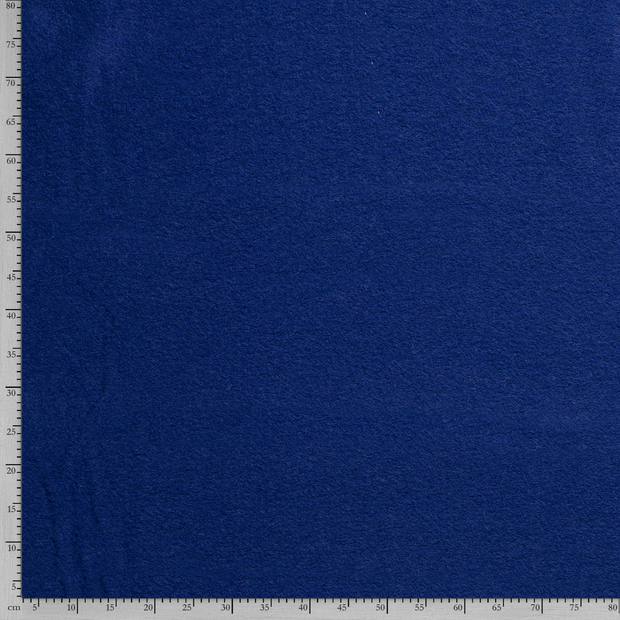 Boiled wool fabric Unicolour Cobalt