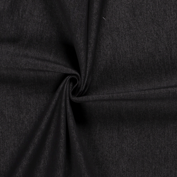 Denim fabric Unicolour Black