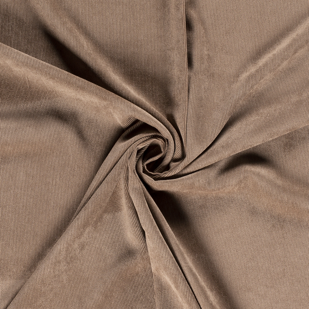 Corduroy fabric Unicolour Brown