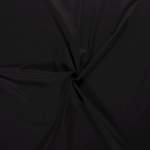 Poplin fabric Unicolour Black