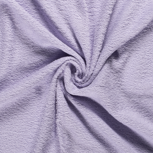 Towelling fabric Unicolour Lavender