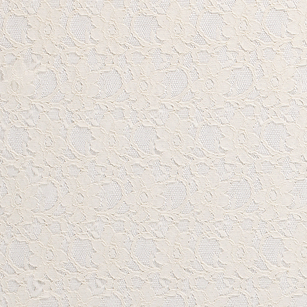 Lace fabric Unicolour Off White