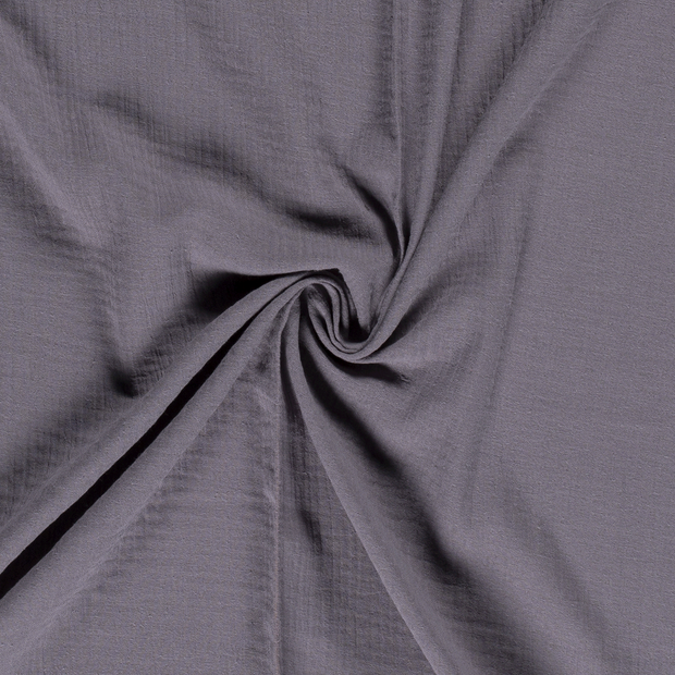 Muslin fabric Unicolour Middle Grey