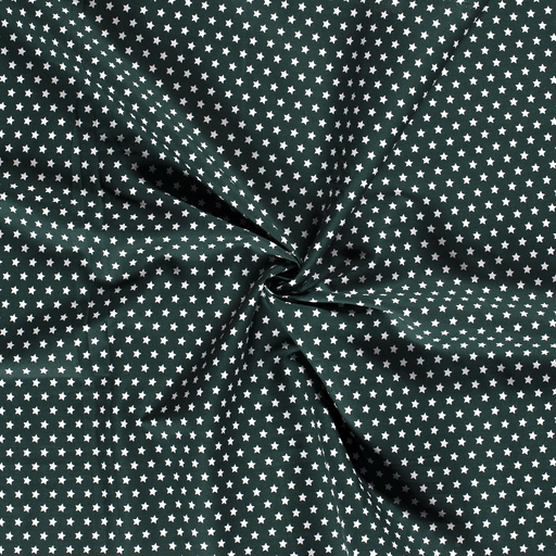 Poplin fabric Dark Green printed