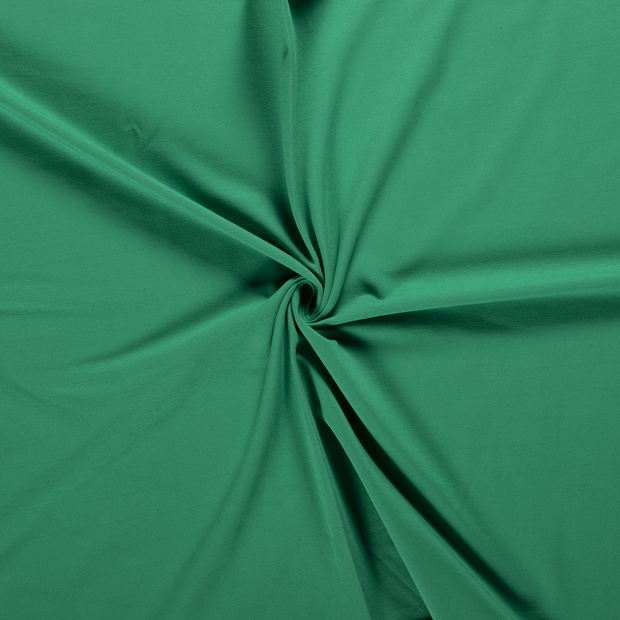 French Terry fabric Forest Green brushed