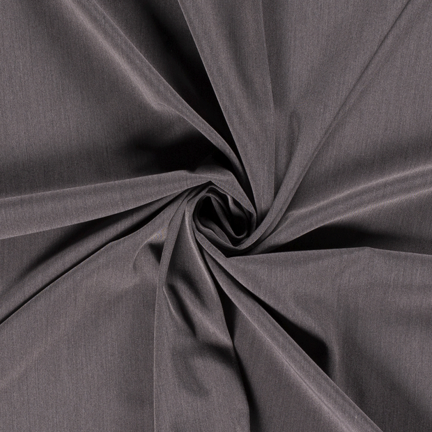 Polyester Mix fabric Unicolour Middle Grey