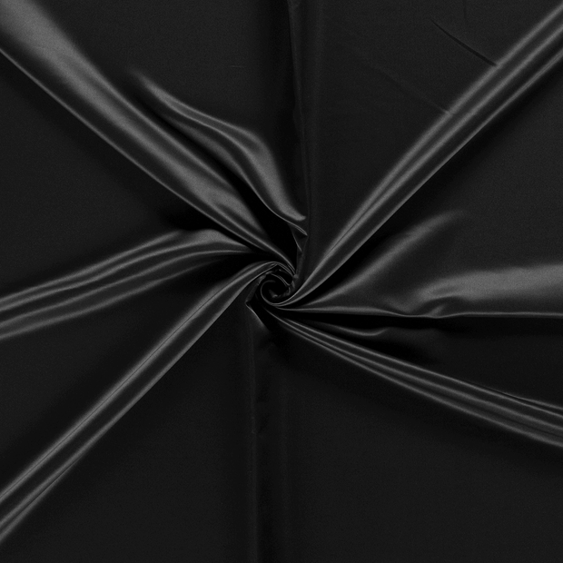 Satin fabric Black