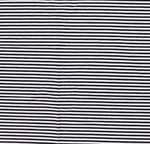 Tricot fabric Stripes Black