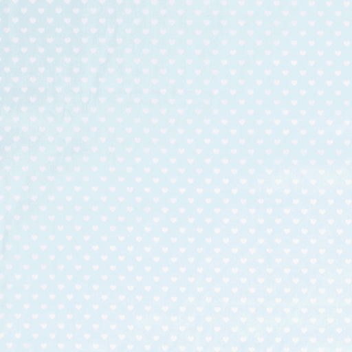 Poplin fabric Hearts Mint