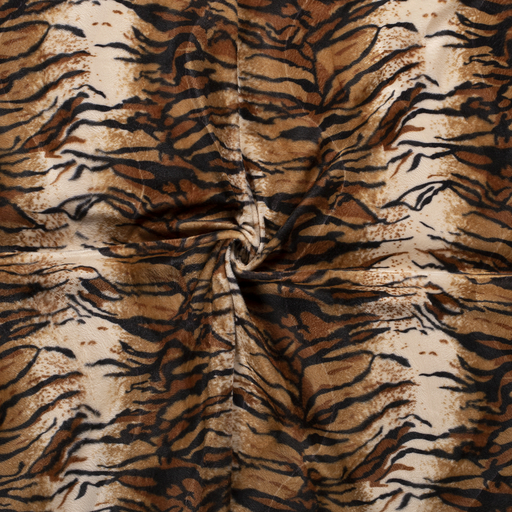 Velours fabric Camel printed