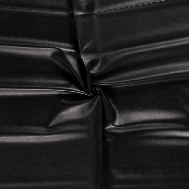 Imitation leather fabric Black backed