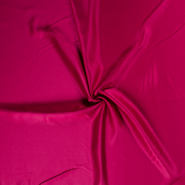 Satin fabric Fuchsia