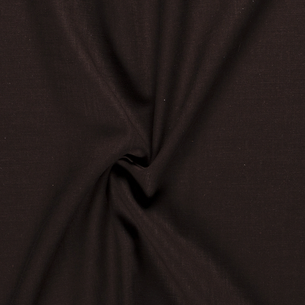Pure linen fabric Unicolour Dark Brown