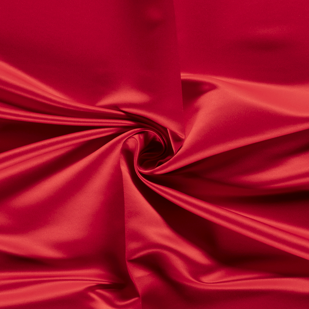 Satin fabric Unicolour Red