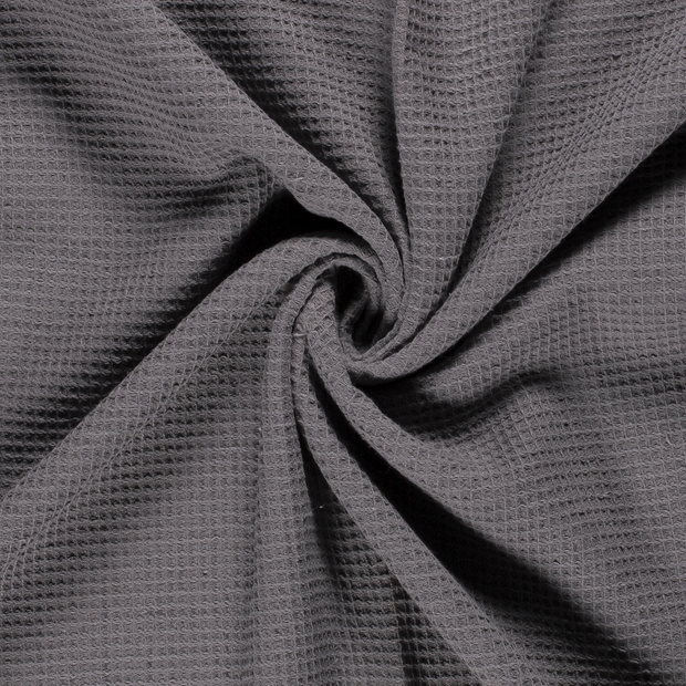 Towelling fabric Unicolour Middle Grey