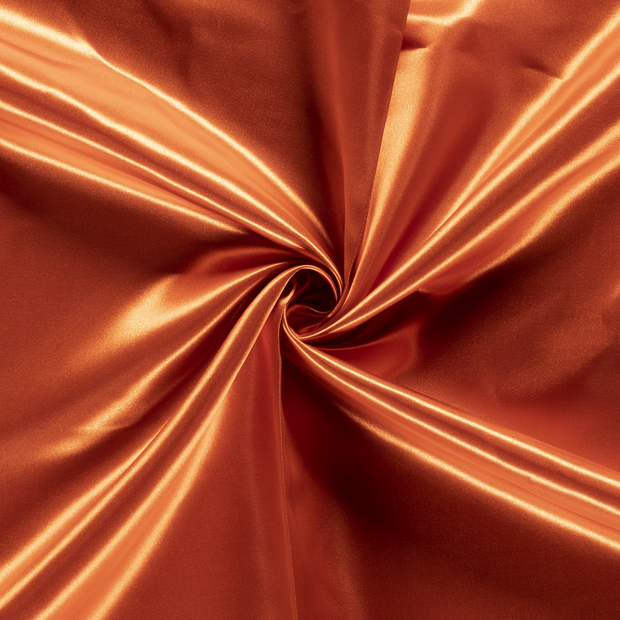 Satin fabric Unicolour Brique
