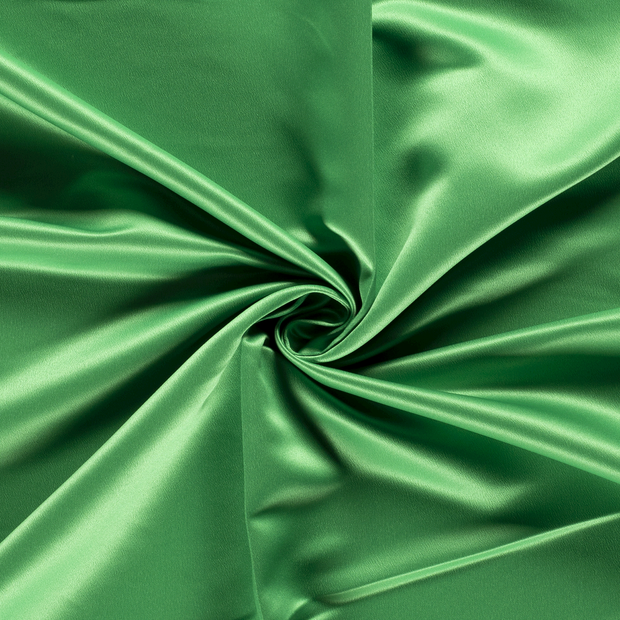 Satin fabric Unicolour Forest Green