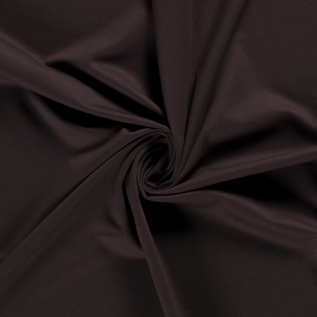 Punta Di Roma fabric Unicolour Dark Brown