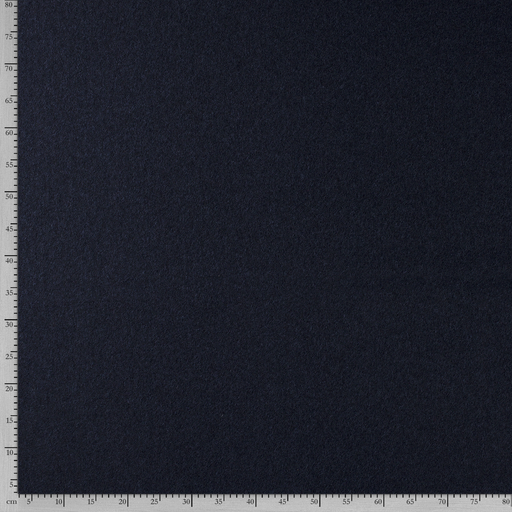 Boiled wool fabric Unicolour Navy