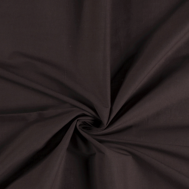 Voile fabric Unicolour Dark Brown