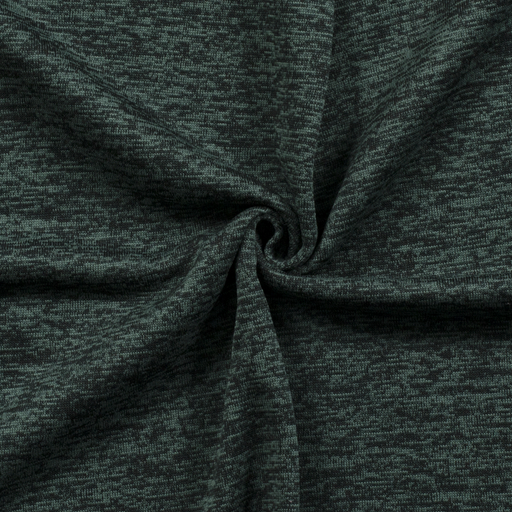 Knitted fabric fabric Unicolour Dark Green