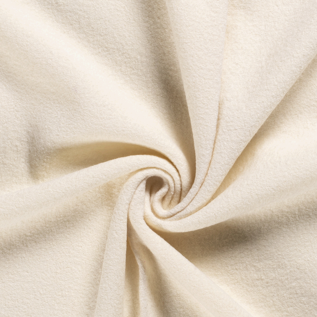 Woollen cloth fabric Unicolour Off White
