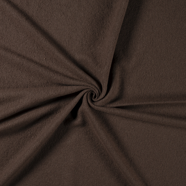 Boiled wool fabric Taupe Brown