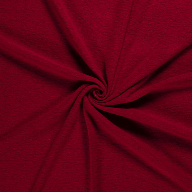 Boiled wool fabric Red