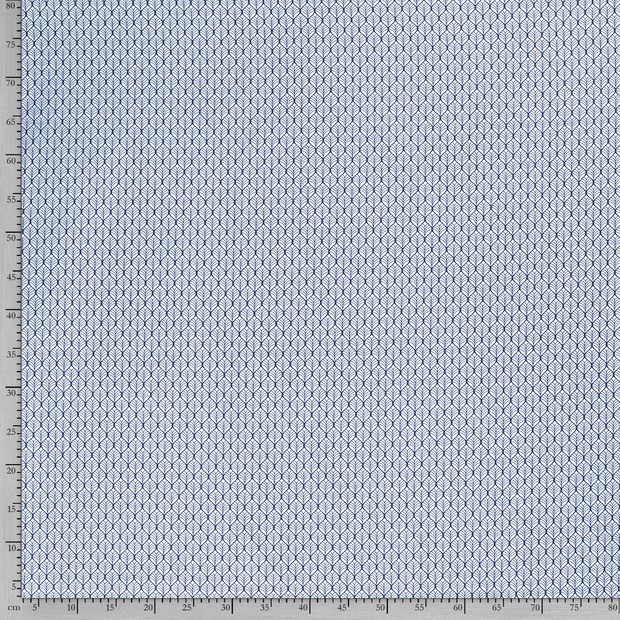 Poplin fabric Flowers Baby Blue