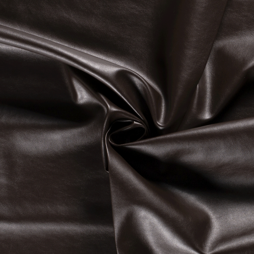 Imitation leather fabric Unicolour Dark Brown