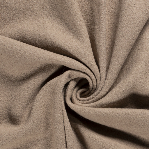 Woollen cloth fabric Unicolour Beige