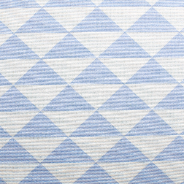 Panama fabric Shapes Baby Blue