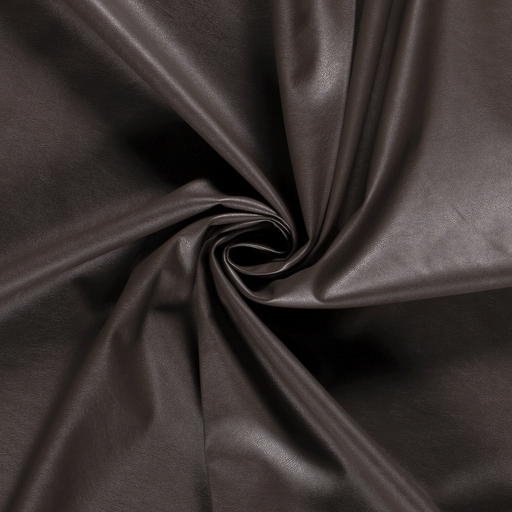 Imitation leather fabric Unicolour Taupe Brown