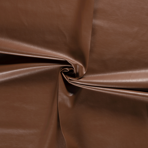 Imitation leather fabric Brown backed