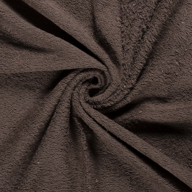 Towelling fabric Unicolour Taupe Brown
