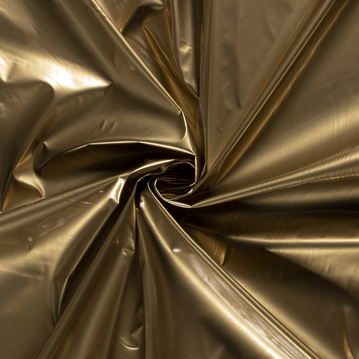 Lacquer fabric Unicolour Gold