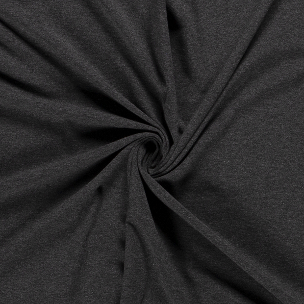 Tricot fabric Unicolour Dark Grey