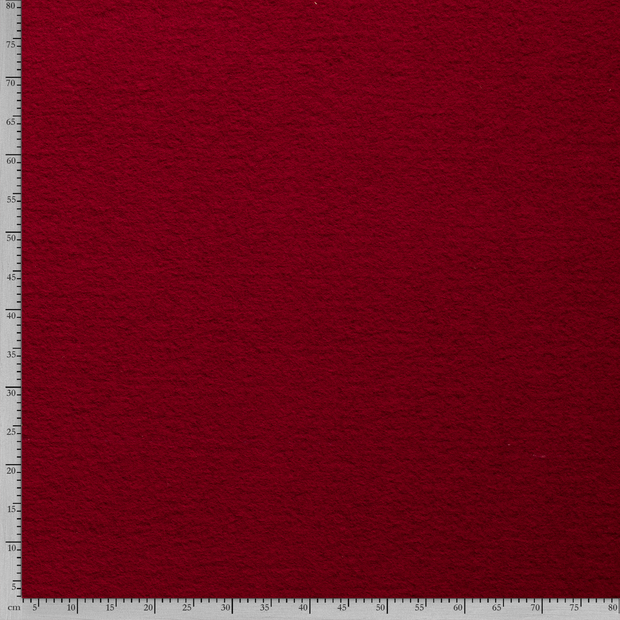 Boiled wool fabric Unicolour Red