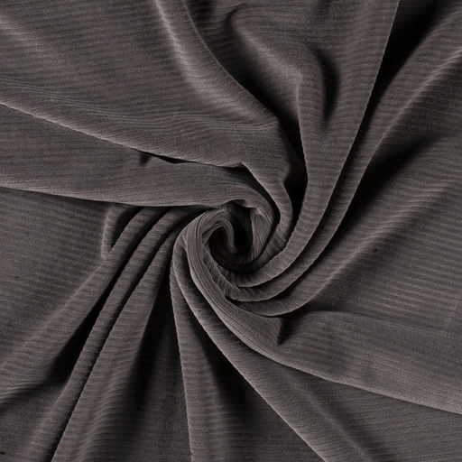 Corduroy fabric Unicolour Middle Grey