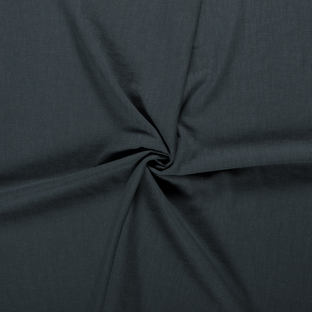 Ramie Linen fabric Dark Green stonewashed