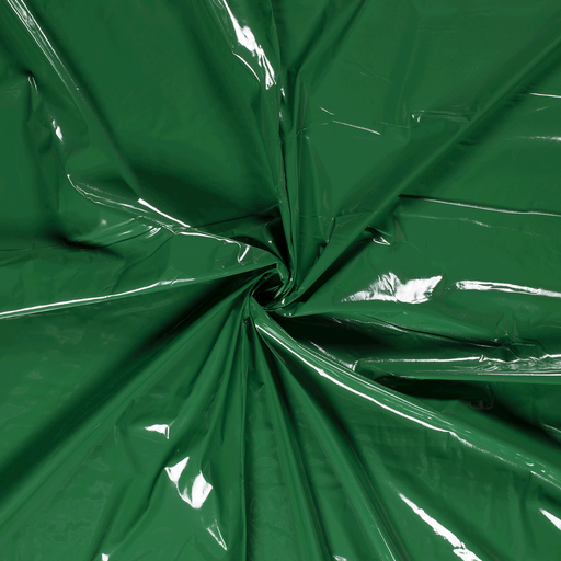 Lacquer fabric Green PUR-coated