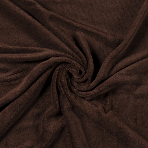 Fleece fabric Unicolour Dark Brown