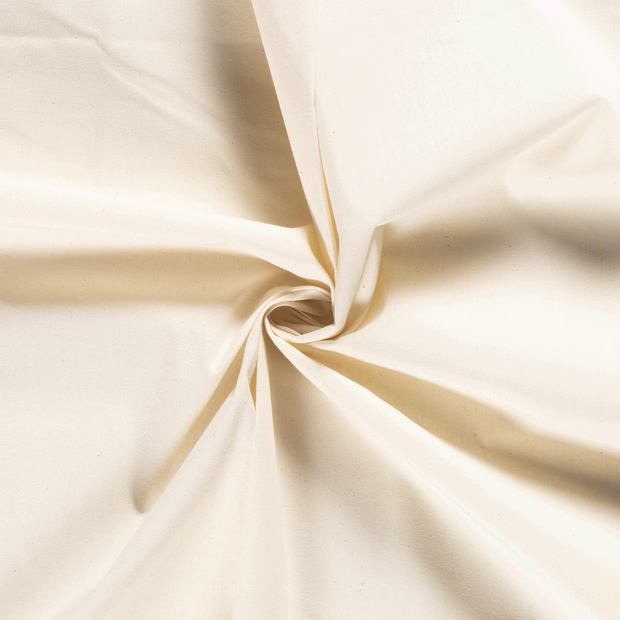 Untreated cotton fabric Unicolour Off White