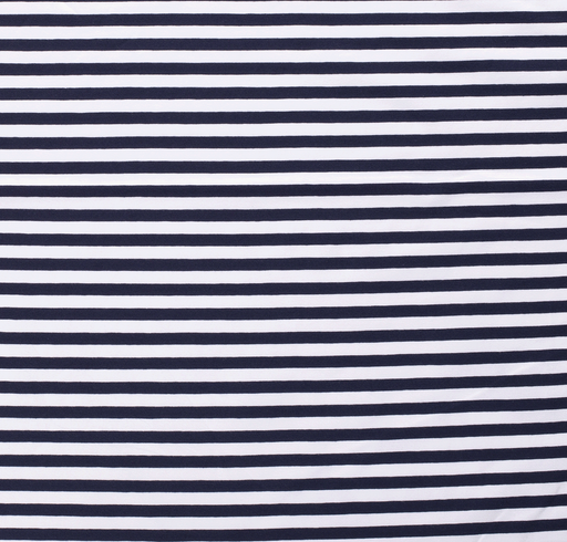 Tricot fabric Stripes Navy